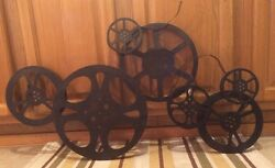 Large Cinema Theater Movie Reels Home Wall Art Plaque Room Film Vintage Style
