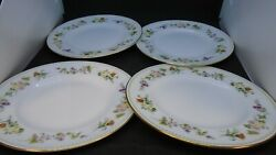 Wedgwood R4537 Mirabelle Salad Plates Four Great Condition