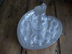 Superb Silver And Cut Glass Whiskey Tot Noggin Set London 1891