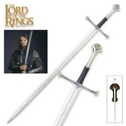 Lord Of The Rings King Elessar Anduril 52 Sword With Plaque United Cutlery Coa