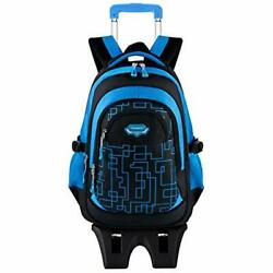 Rolling Backpack For Boys With Wheels Trolley School Bags Kids Bookbags Wheeled