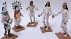 Navajo Yei Bei Chi And Dancers -- Set Of Five By Tom W Yazzie 1960-1970