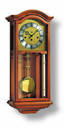 Regulator wall clock with brass dial 14 day running time from .. AM R26519 NEW