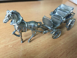Rare-antique - Silver Horse Crown Carriage With Extreame Details