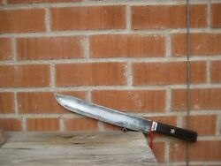 Antique 11 1/2 Blade Goodell 3xl Carbon Butcher Breaking Knife Usa