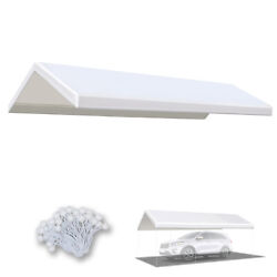 Replacement Canopy Tent 10x20' Carport Cover Tarp Sunshade Top W Bungees Cords