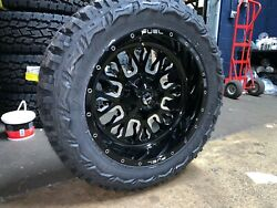 20x10 Fuel D611 Stroke 33 Mt Wheel And Tire Package 8x6.5 Dodge Ram 2500 3500