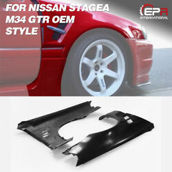 For Nissan Stagea M34 Gtr Frp Glass Front End Conversion Front Fender Body Kits