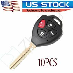 10x Remote Fob Uncut Keyless Replacement Ignition Entry Car Key For Toyota Camry