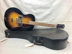 Vintage 1940and039s Recording King Regal Electric Spanish Hollowbody Archtop Guitar