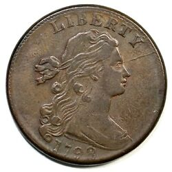 1798 S-167 Large 8, 2nd Hair Draped Bust Large Cent Coin 1c