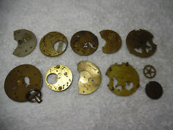 Vintage Antique Pocket Watch Plates Etc. For Jewelry Or Parts 1/4 Pound 79-9mm
