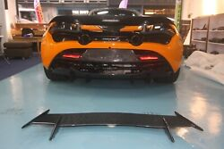Real Carbon Fiber Add On Rear Spoiler Wing Fit For Mclaren 2018 720s Coupe