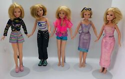 Lot Of 5 Mary-kate And Ashley Olsen Dolls 1987 Used Free Shipping