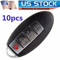 10x Uncut Replacement Keyless Entry Remote Ignition Car Key Fob for Infiniti