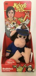 Michael Jackson Pets BUBBLES THE CHIMP Plush + Cassette rare 1987 IDEAL TOYS