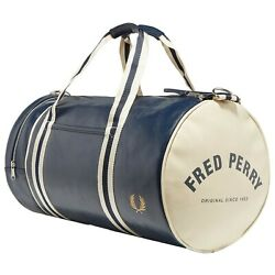 FRED PERRY AUTHENTIC Navy Classic Barrel Bag L3330 635