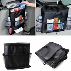 Car Auto Seat Back Multi Pocket Storage Bag Organizer Holder Travel Hanger Black