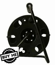 100-Ft Quick Snap Design Sturdy Durable Metal Extension Cord Reel Stand Black