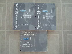 2008/2009 FORD EXPEDITION/LINCOLN NAVIGATOR SERVICE SHOP REPAIR MANUAL WORK BOOK