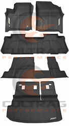 2018-2020 Traverse Front And 2nd And 3rd Row And Cargo 8 Pass All Weather Floor Liners