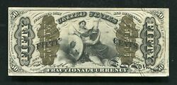"""Fr. 1366 50 Fifty Cents Third Issue Fractional Currency """"justice"""" About Unc"""