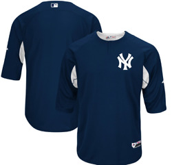 New York Yankees Majestic Authentic Collection On Field Batting Practice Jersey