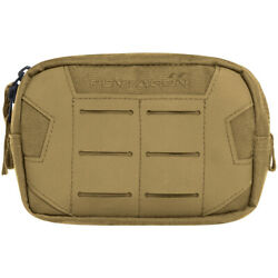 Pentagon Elpis 15x10 Utility Pouch Hiking Army Tactical Molle Laser Cut Coyote