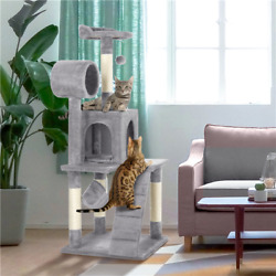 51quot; Cat Tree Bed Furniture Scratching Tower Post Condo Kitten Pet Play House