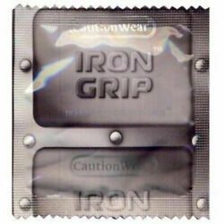 100 Pack Caution Wear Iron Grip Snugger Fit Silicone Based Lubricated Condoms