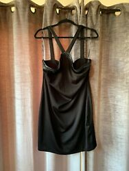 Forever 21 Plus Size 2X Halter Top Chain Black Dress New NWT Super Cute