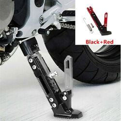 Motorcycle Side Tripod Black+red Kickstand Aluminum Stand Protect Accessories