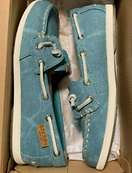 Sperry Coil Ivy Water Canvas Women's Slip-On Loafer;Color: Blue Size:5.5M Set2