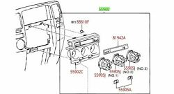 Toyota 4runner 03-04 Sr5 Climate Control Fan Switch Assembly Genuine Oem Oe