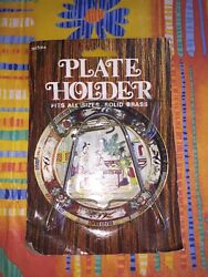Plate Holder Solid Brass Fits All Sizes New In Package Collectible Home Decor
