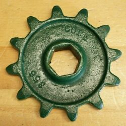 Cole Charlotte Nc 1 Row Corn Cotton Planter 12 Tooth Chain Distance Sprocket Hex
