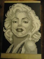 ORIGINAL HUGE 40'' X 30'' PAINTING  '' MARILYN MONROE '' BY ARTIST JAMES CHEN
