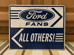 Ford Fans Metal Gas Oil Parking Vintage Style Garage Coupe Racing Decor Nascar