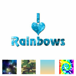 I Love Rainbows - Vinyl Decal Sticker - Multiple Patterns And Sizes - Ebn1208