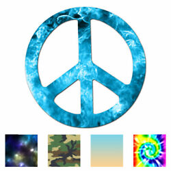 Peace Sign - Vinyl Decal Sticker - Multiple Patterns And Sizes - Ebn941