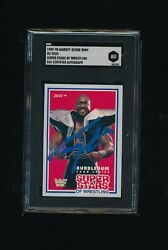 1989 Wwf Wrestling Tiny Lister Signed 2 Zeus Autograph Card Sgc Auth Deceased