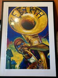 New Orleans Jazz Fest - Congo Square - signed T.OSBORNE Poster 2007