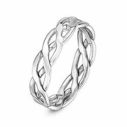 9ct White Gold Open Weave Celtic Wedding Band - 5mm 6mm 7mm