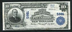 1902 10 The First Nb And Trust Co. Of Paulsboro Nj National Currency Ch. 5981andnbsp