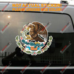 Coat Of Arms Of Mexico Mexican Eagle Decal Sticker Car Vinyl Reflective Glossy