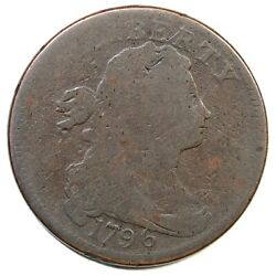 1796 S-118 R-5+ Rev Of And03997 Draped Bust Large Cent Coin 1c