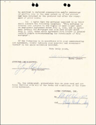 GARY COOPER - DOCUMENT SIGNED 07/03/1952 CO-SIGNED BY: ROBERT WISE, HARRY LENART