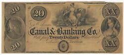 20 18__ Remainder Obsolete Bank Note - Canal And Banking Co. New Orleans