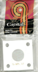 Capital Holder 2x2 For 1/4 Oz.maple Leaf Coin White Acrylic Plastic Display Case