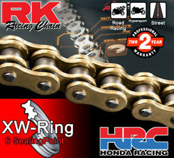 Rk Gold Xw-ring Drive Chain 530 P - 114 L For Triumph Motorcycles